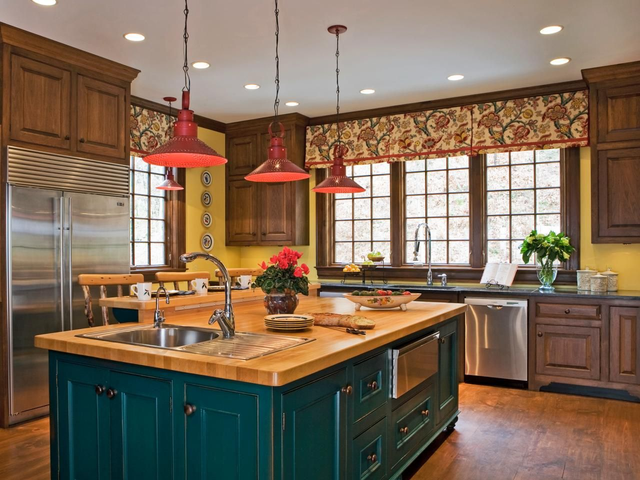 30 Colorful Kitchen Design Ideas From  Hgtv Kitchens Hgtv And Cool Kitchen Colour Designs Ideas Design Decoration