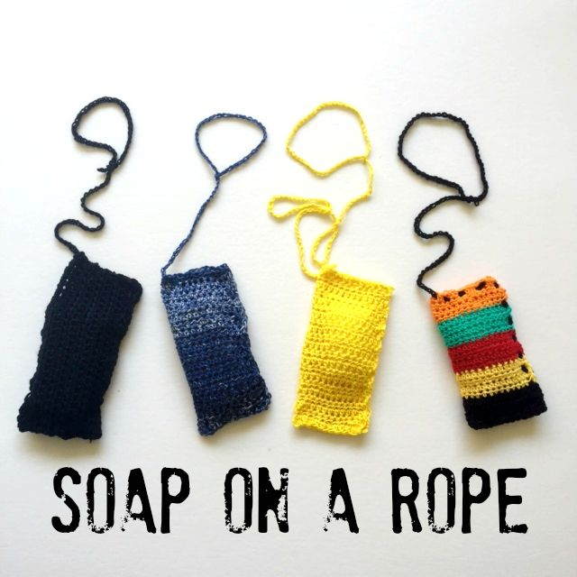Father\'s Day Gift Idea: Soap On A Rope. #craft #crochet #DIY ...