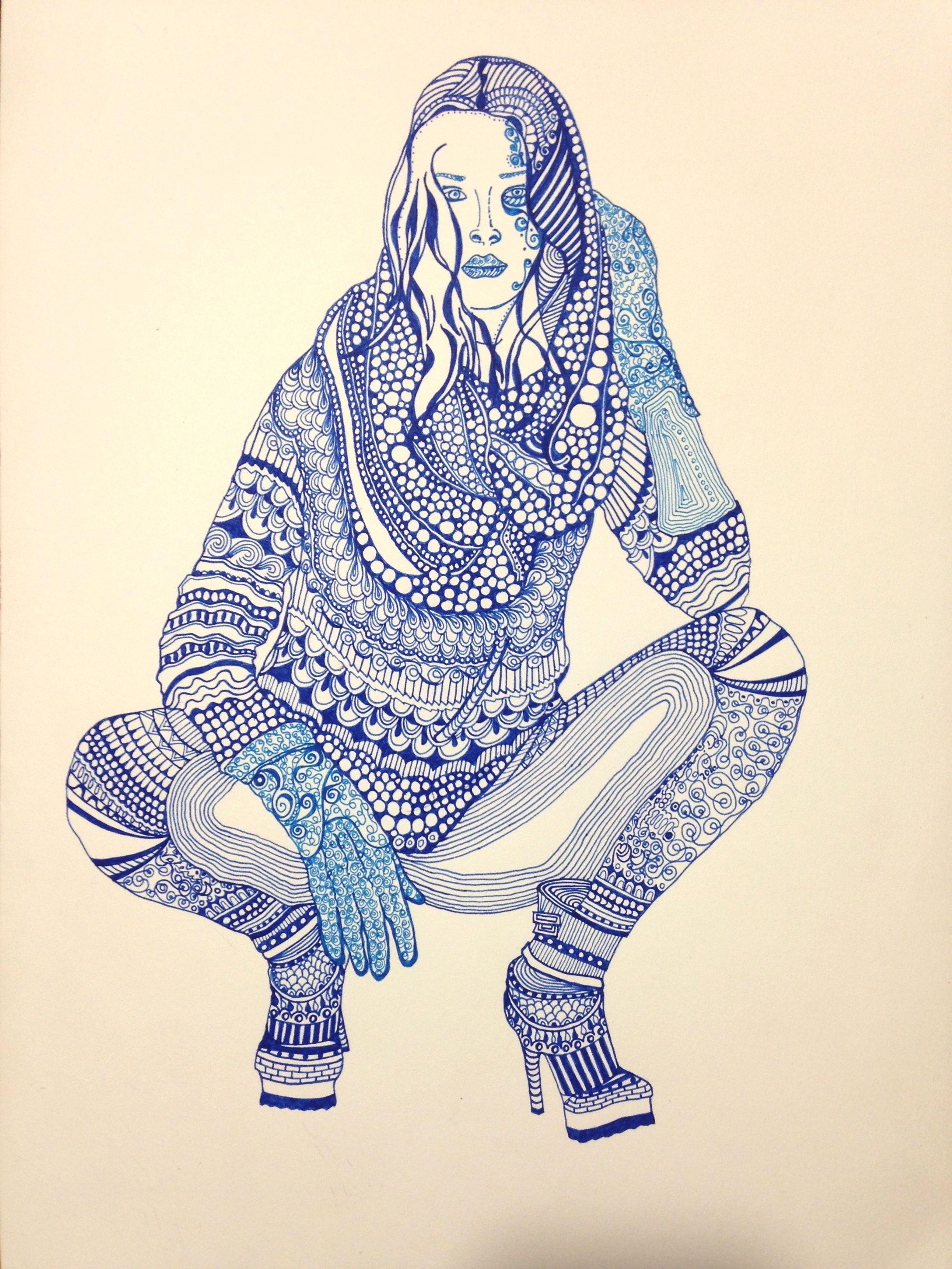 """""""Azul""""1 - """"Dibujos Alternativos"""" Trabajos únicos y originales - Firmados ValBD.- Instagram @valeriabalmacedad_arts"""