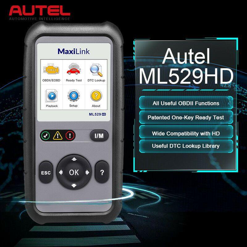 eBay Advertisement) Autel Heavy Duty HD OBD2 Scanner Code Reader