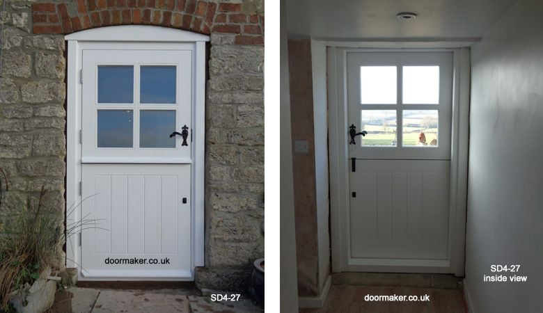 Bespoke Doors Stable Door With 4 Panes Made From Oak Stable Door Doors External Doors