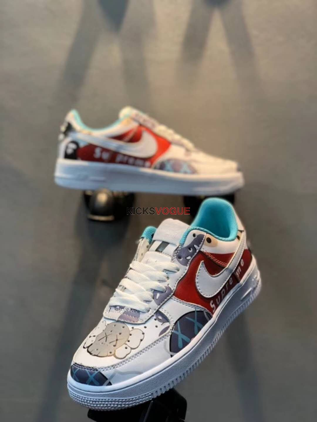 d2e5772c4cb9 Custom Supreme x Bape x Kaws x Nike Air Force 1 Low