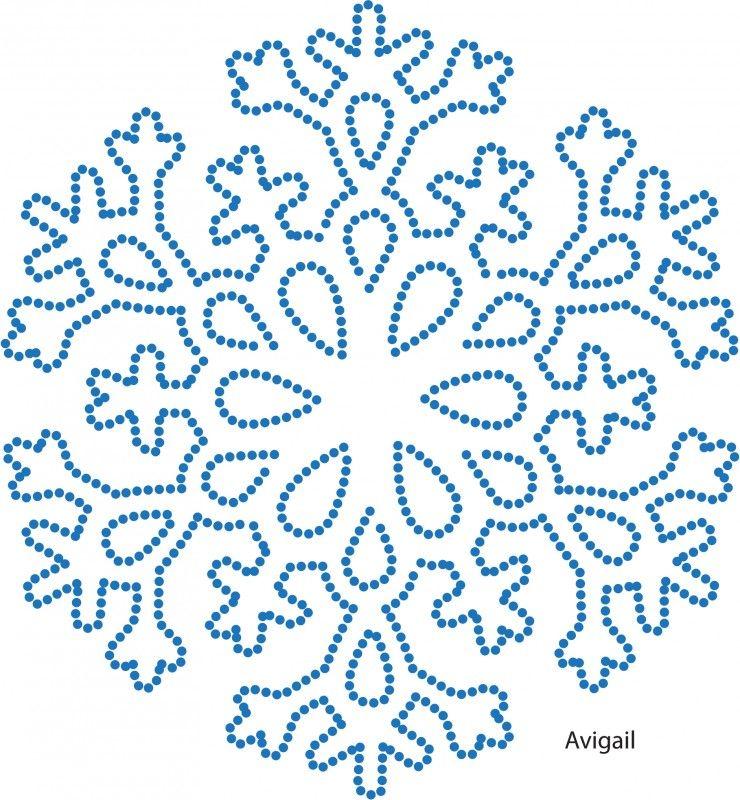 картинка снежинки соединения по точке это также
