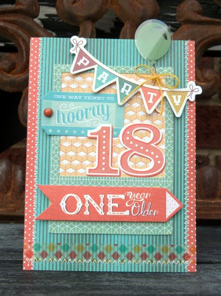 18th Birthday Card Scrapbook Cards I Like Pinterest 18th