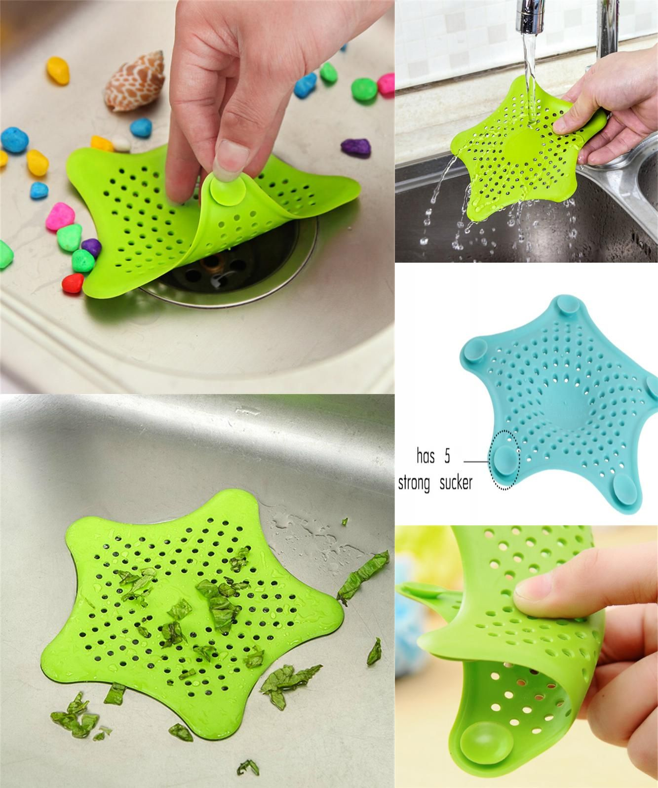 Visit to Buy] Creative Sewer Outfall Strainer Bathroom Silicone ...