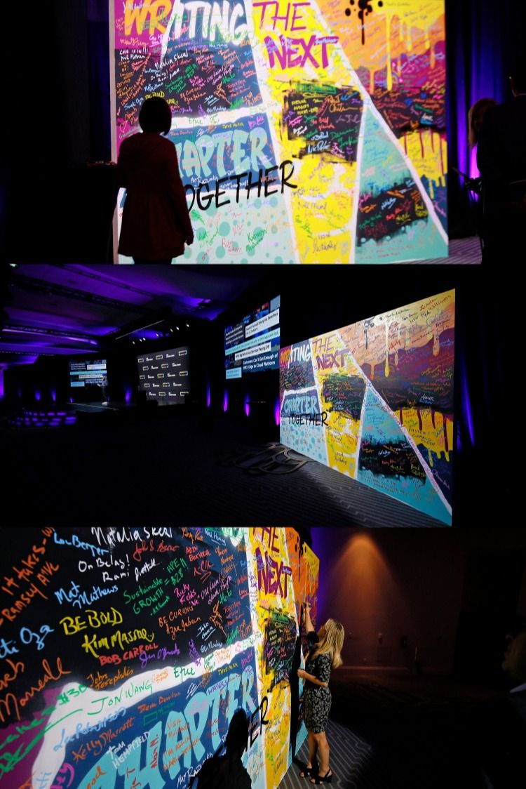 Interactive Mural for Technology Conference in Miami, FL