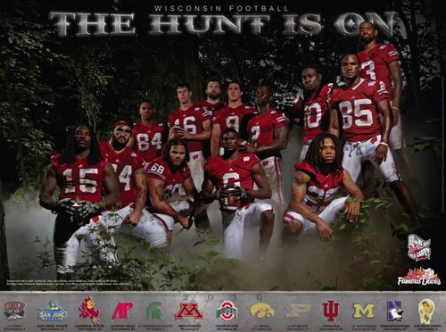 High School Football Posters Wisconsin Badgers College Football