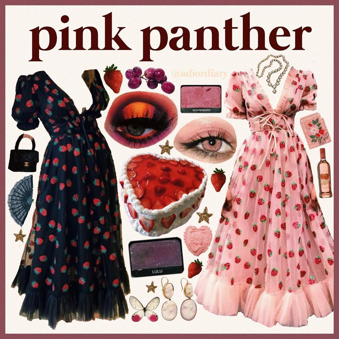 Moodboards And Other Things On Instagram Black Strawberry Dress Or Pink Strawberry Dress Discuss Strawberry Dress Black Strawberry Prom Dresses Ball Gown [ 1080 x 1080 Pixel ]