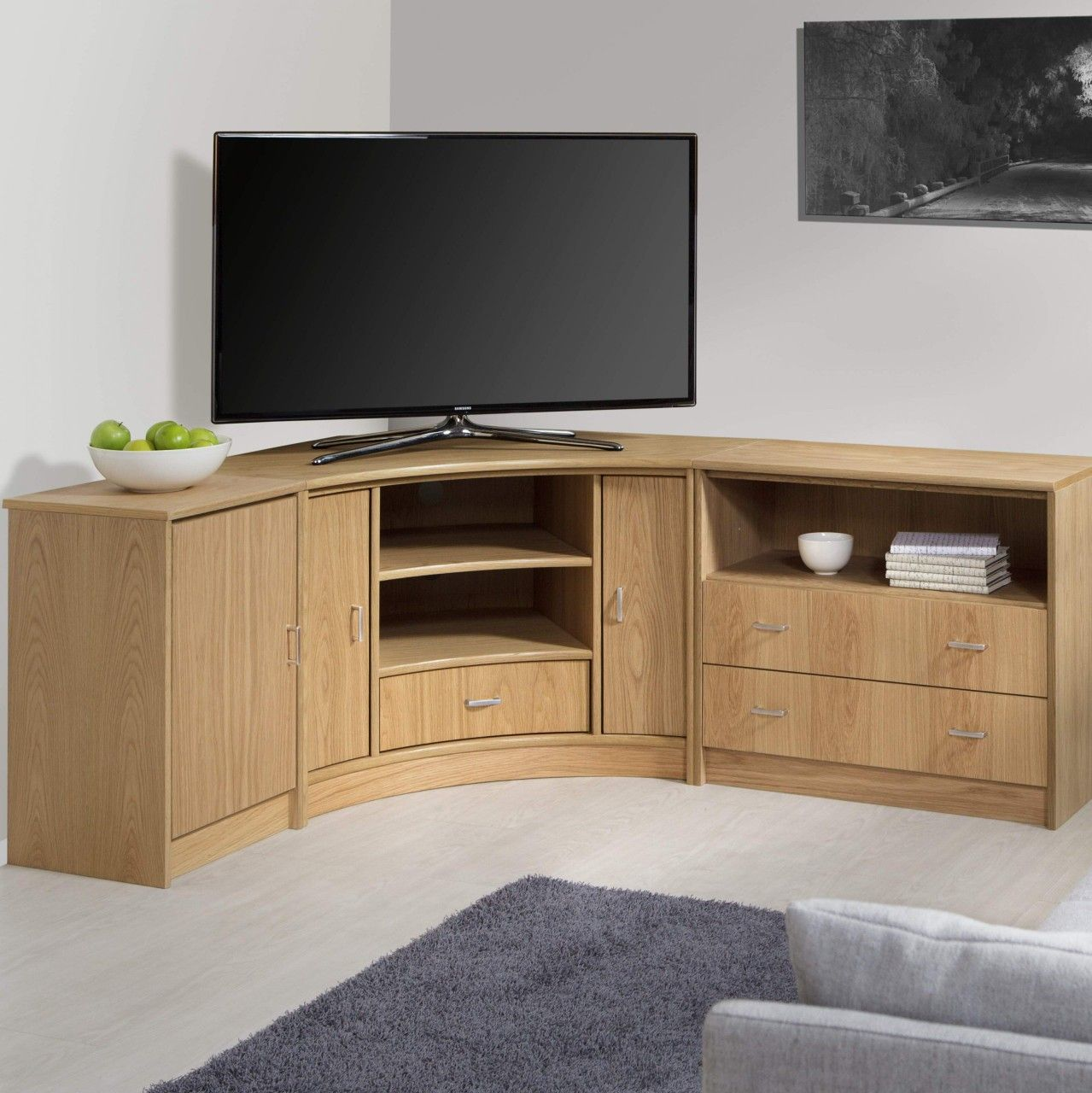 Beautiful Corner Tv Stand Ideas To See More Read It In 2021 Corner Tv Stand Corner Tv Stands Tall Corner Tv Stand