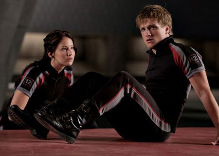 Katniss and Peeta in Mocking Jay