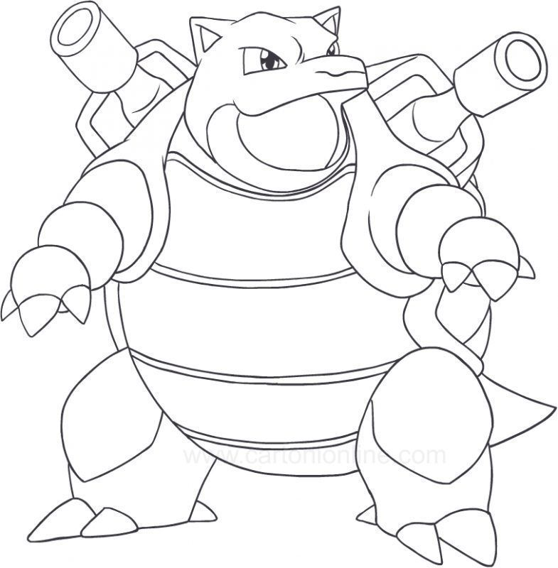 Blastoise Para Colorear Pokemon Coloring Coloring Pages