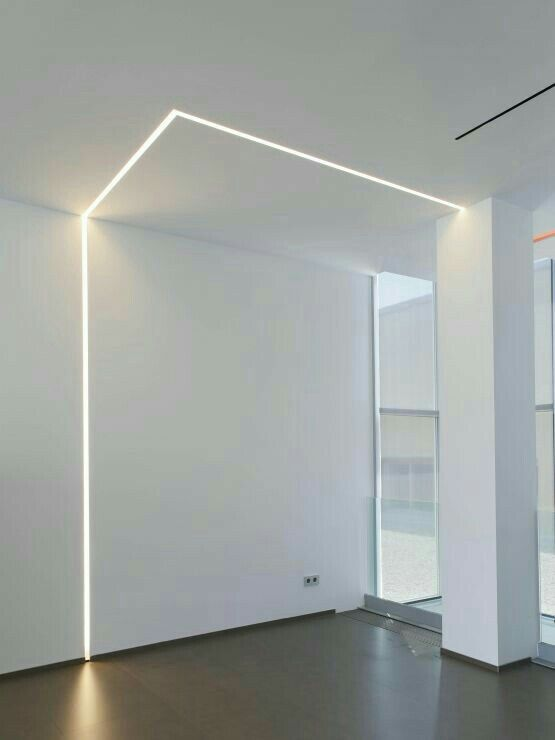 Recess linear LED lighting from the doorway and go down near the