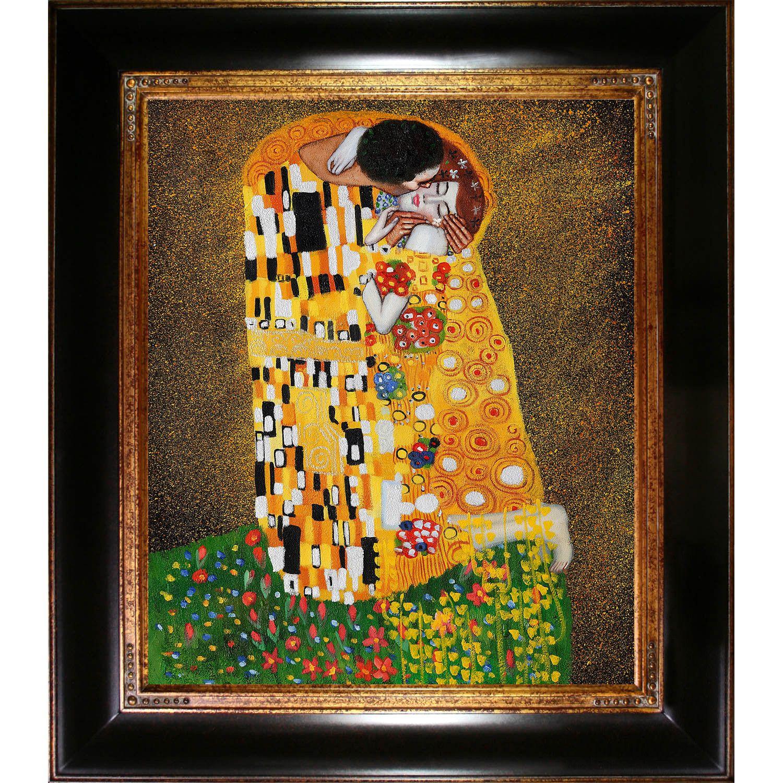 The Kiss (Fullview) by Gustav Klimt Framed Original Painting
