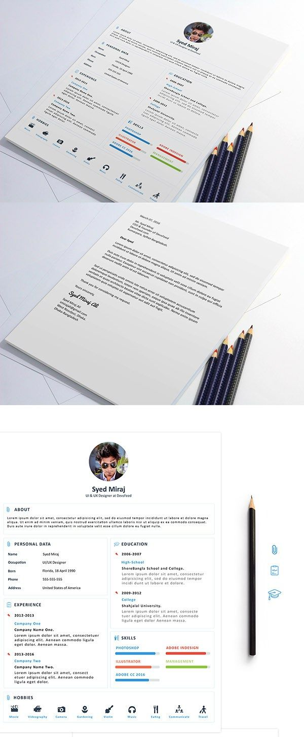 Free Resume Download CV Resume PSD Templates