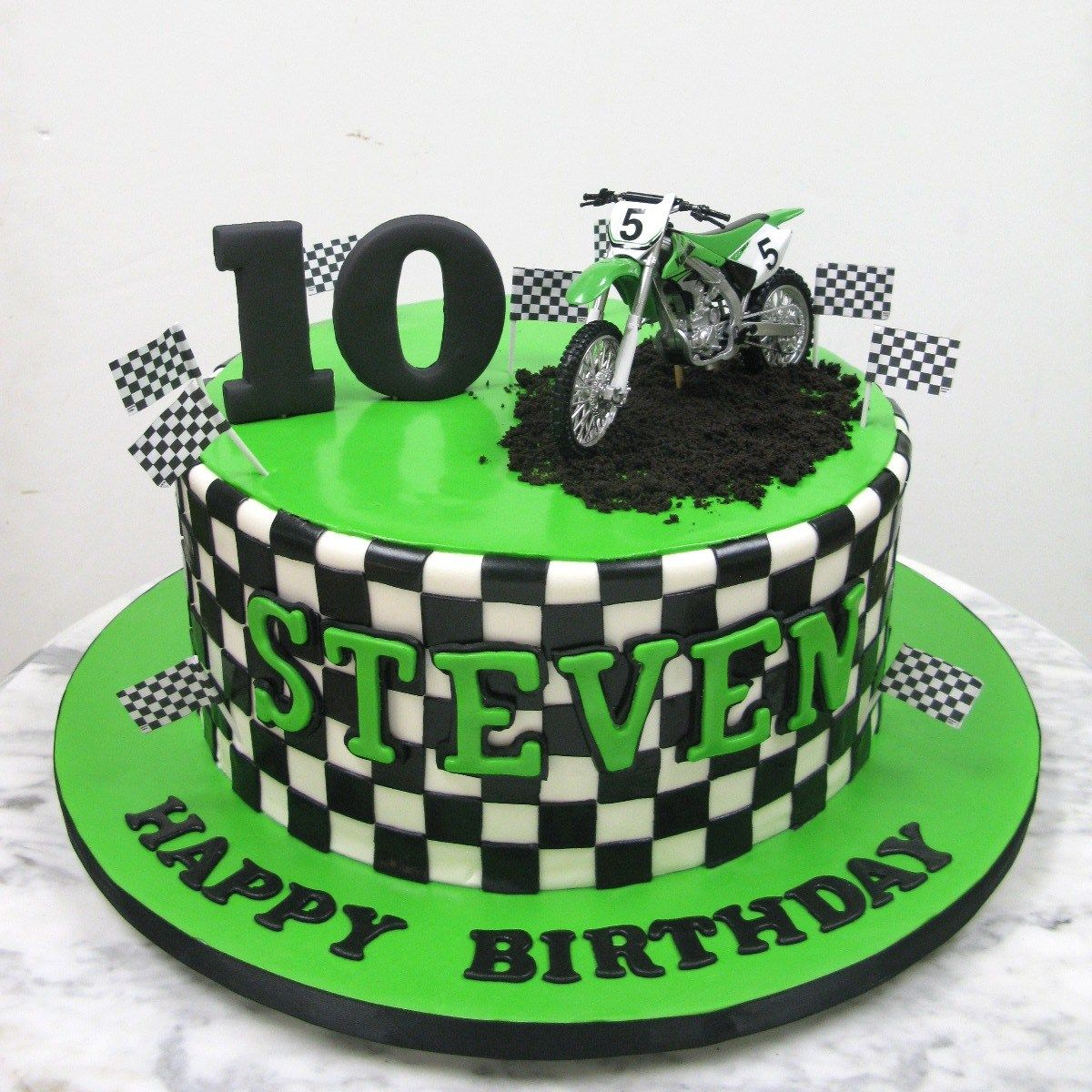 Incredible 30 Amazing Photo Of Dirt Bike Birthday Cake With Images Dirt Birthday Cards Printable Trancafe Filternl