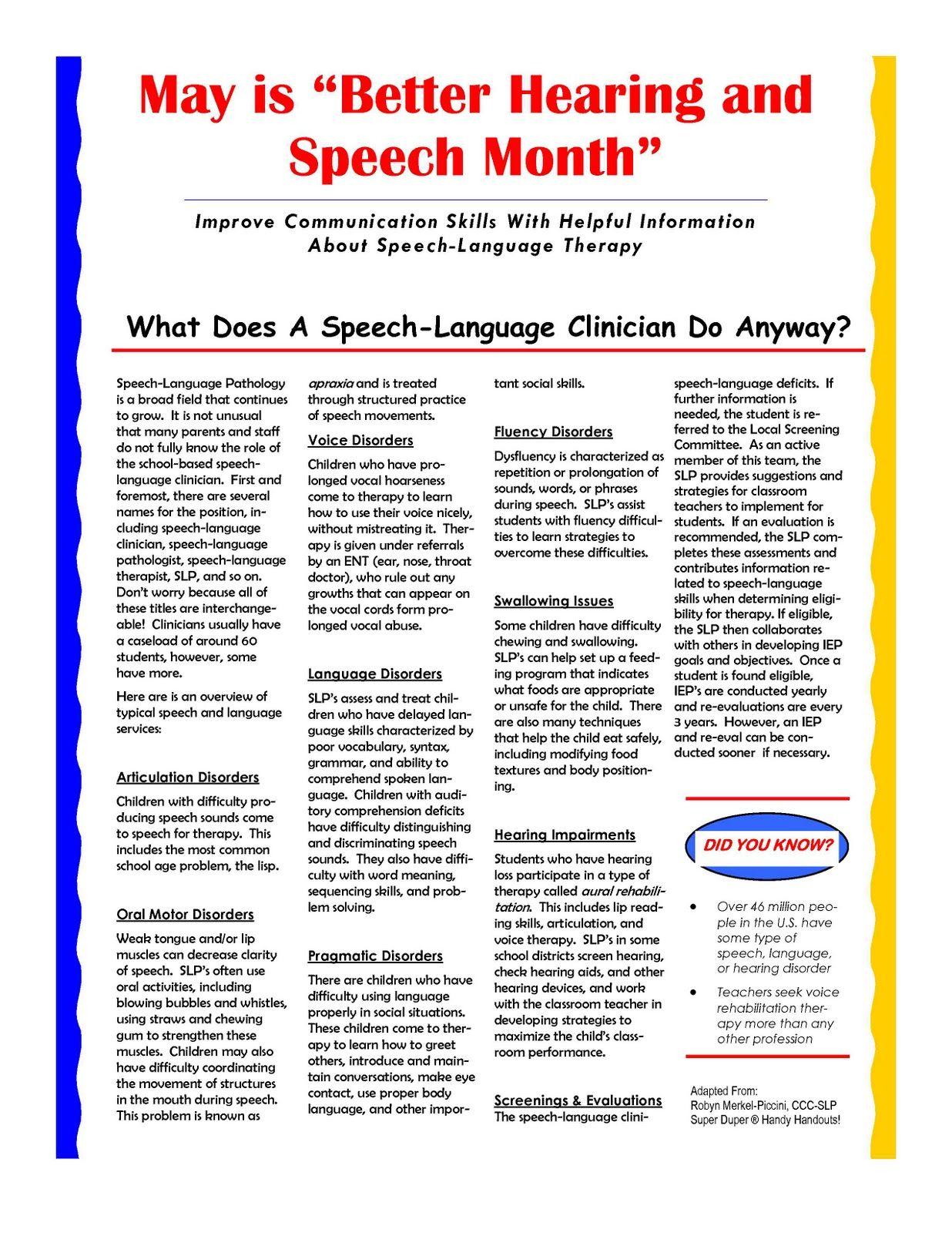 Speech career information management summary wie schreiben