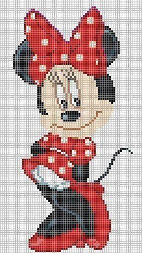 minnie vestida de fiesta | pixels | Pinterest | Bügelperlen ...