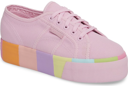 Superga 2790 Platform Sneaker in Pink