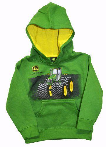 sitio de buena reputación 5acf0 85d59 John Deere Little Boys Tractor Hooded Sweatshirt