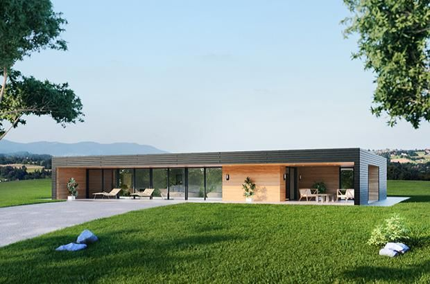 1000 images about maison bois on pinterest construction chalets and house - Maison En Bois Moderne