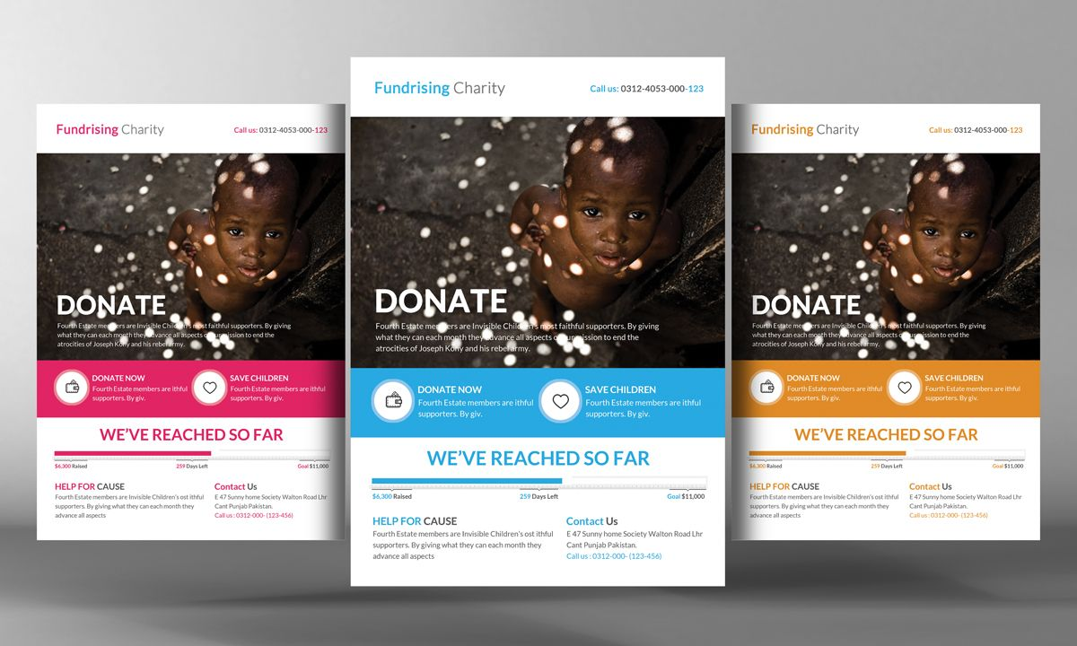 Charity Donation Flyer Template By Business Templates On Creative