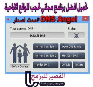 تحميل افضل برنامج مجاني لحجب المواقع الاباحية Dns Angel 2020 Dns Pandora Screenshot