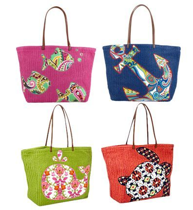 Love These Vera Bradley Beach Bags Time For A Day Www Floridabeachs