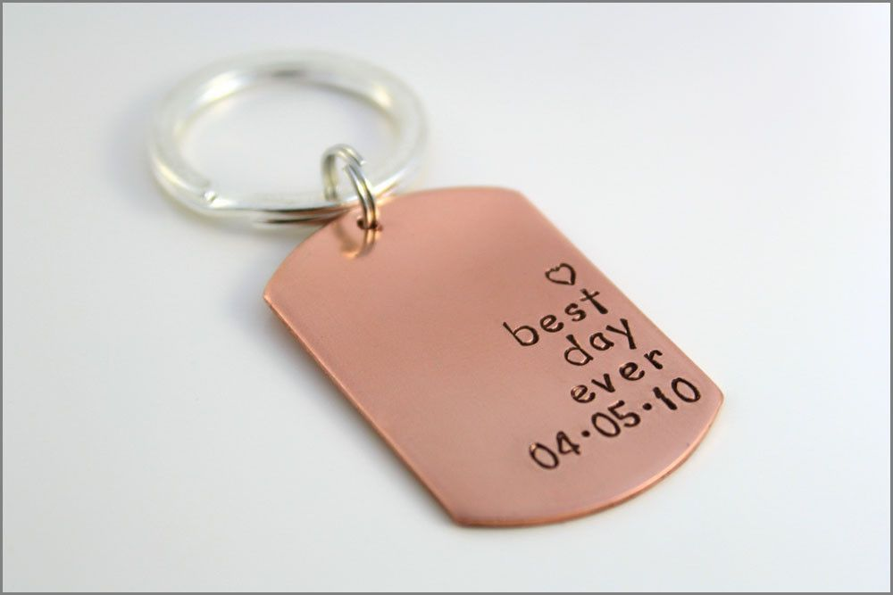 Custom Wedding Keychain