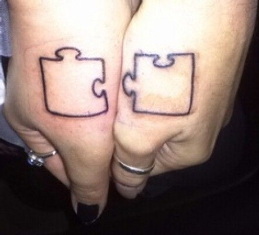 2d3aa10aacc01 35 Matching Puzzle Piece Tattoos You Have to See   Matching puzzle ...