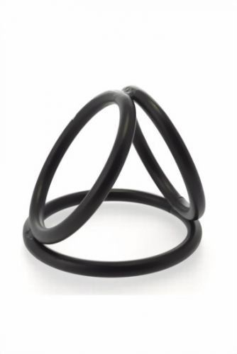 40 mm Triple Cockring Stainless Steel - Schwarz