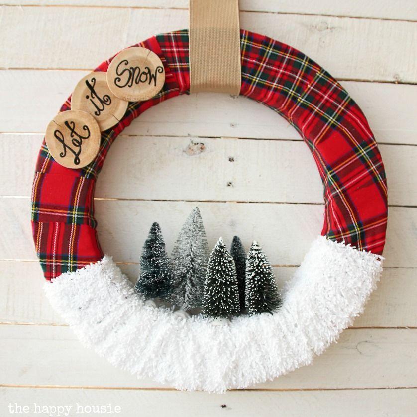 "Photo of ""Let it Snow"" Christmas Wreath | The Happy Housie"