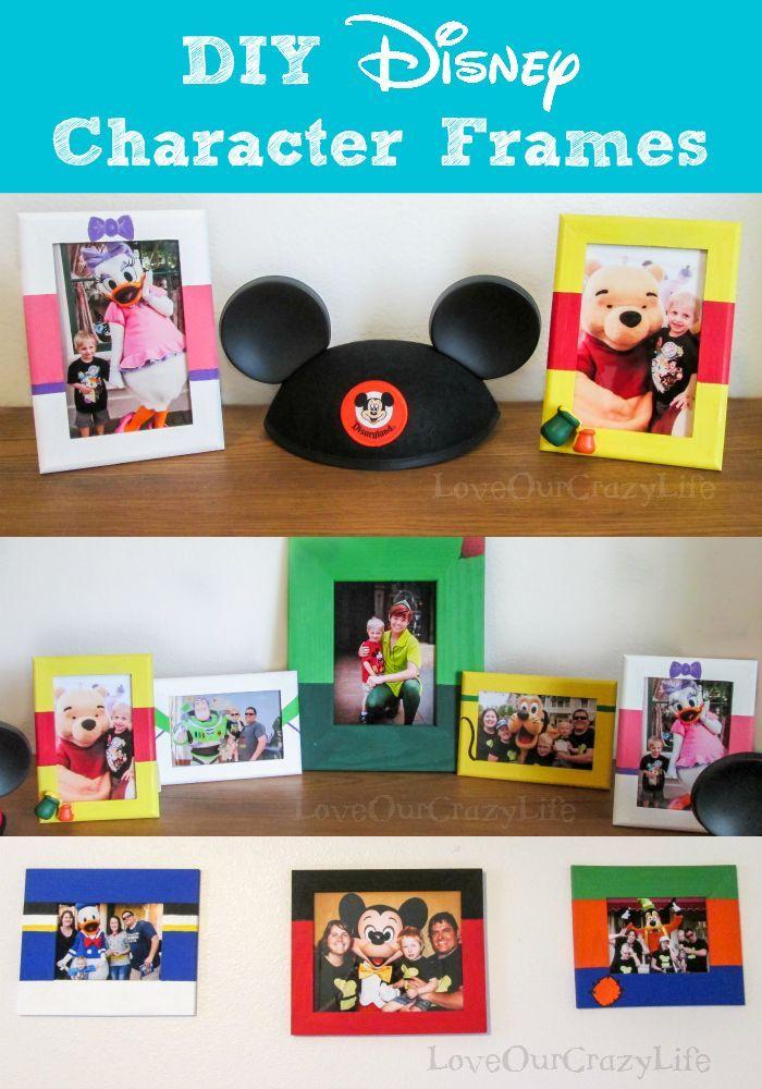 Easy DIY Disney Character Frames #disneycharacters