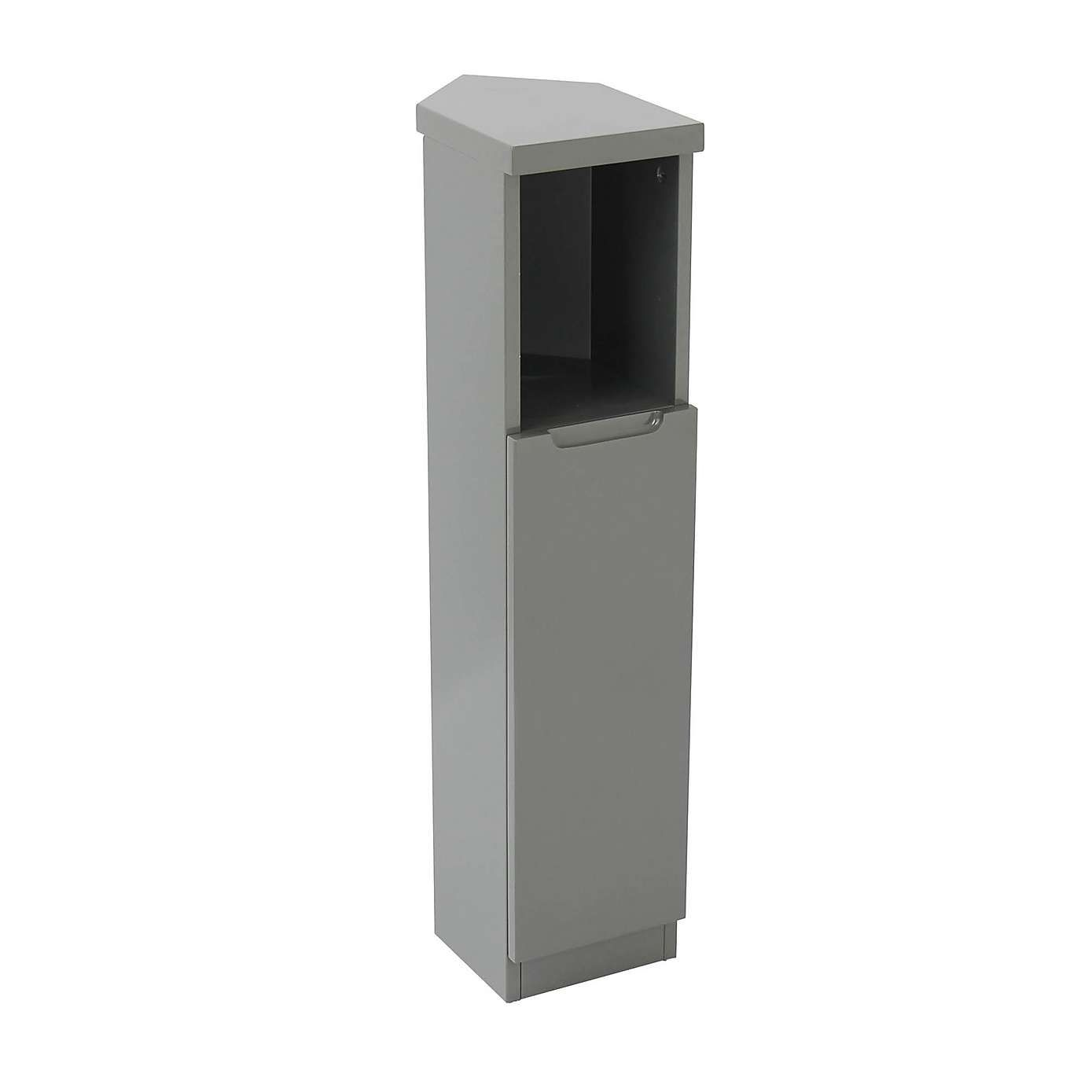 Siena Grey Corner Cabinet Corner Cabinet Bathroom Furniture Storage Cabinet