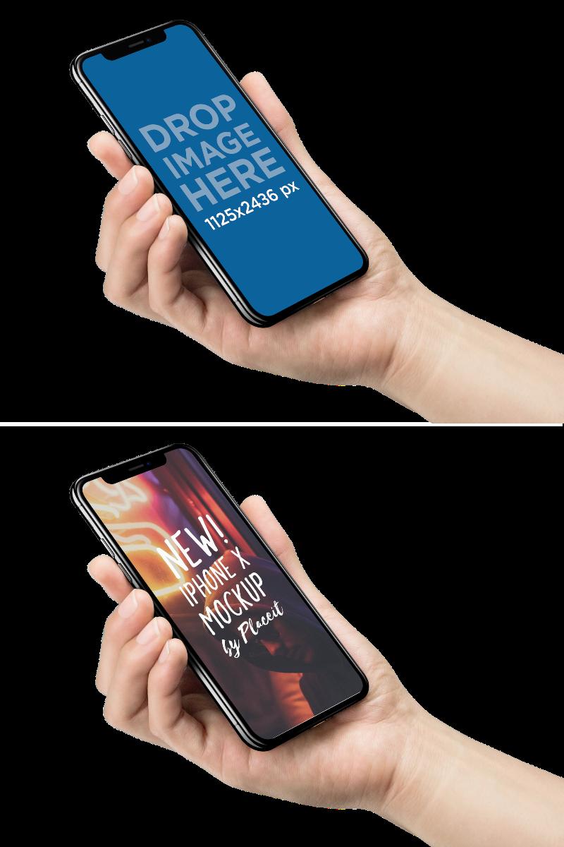 holding phone screen mockup Google Search Mockup