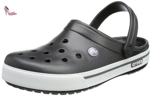 Crocs - - Crocband II Chaussures unisexes, EUR: 43-44, Charcoal/Light Grey
