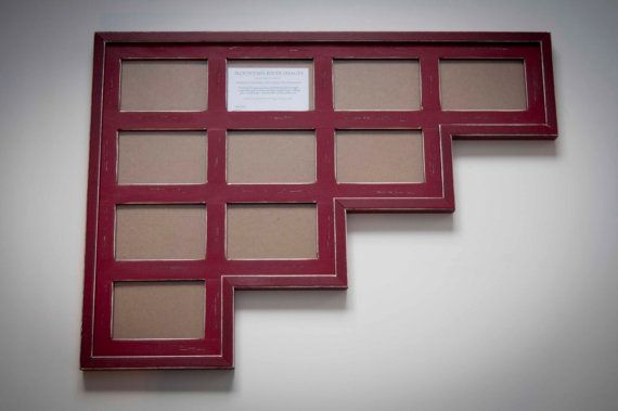 Multi 10 Opening 4x6 Distressed Rustic Pine Collage Picture Frame English Red Handmade Collage Picture Frames Frame Picture Frames