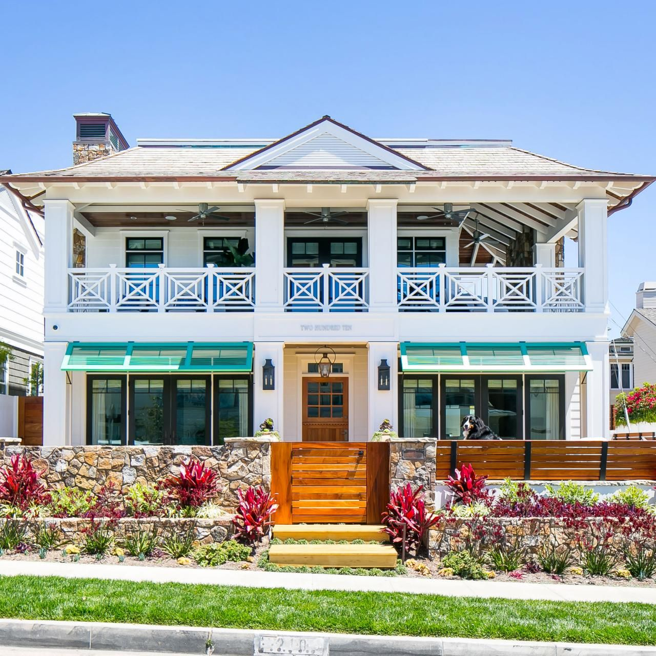 West Indies Meets Cape Cod Style Home