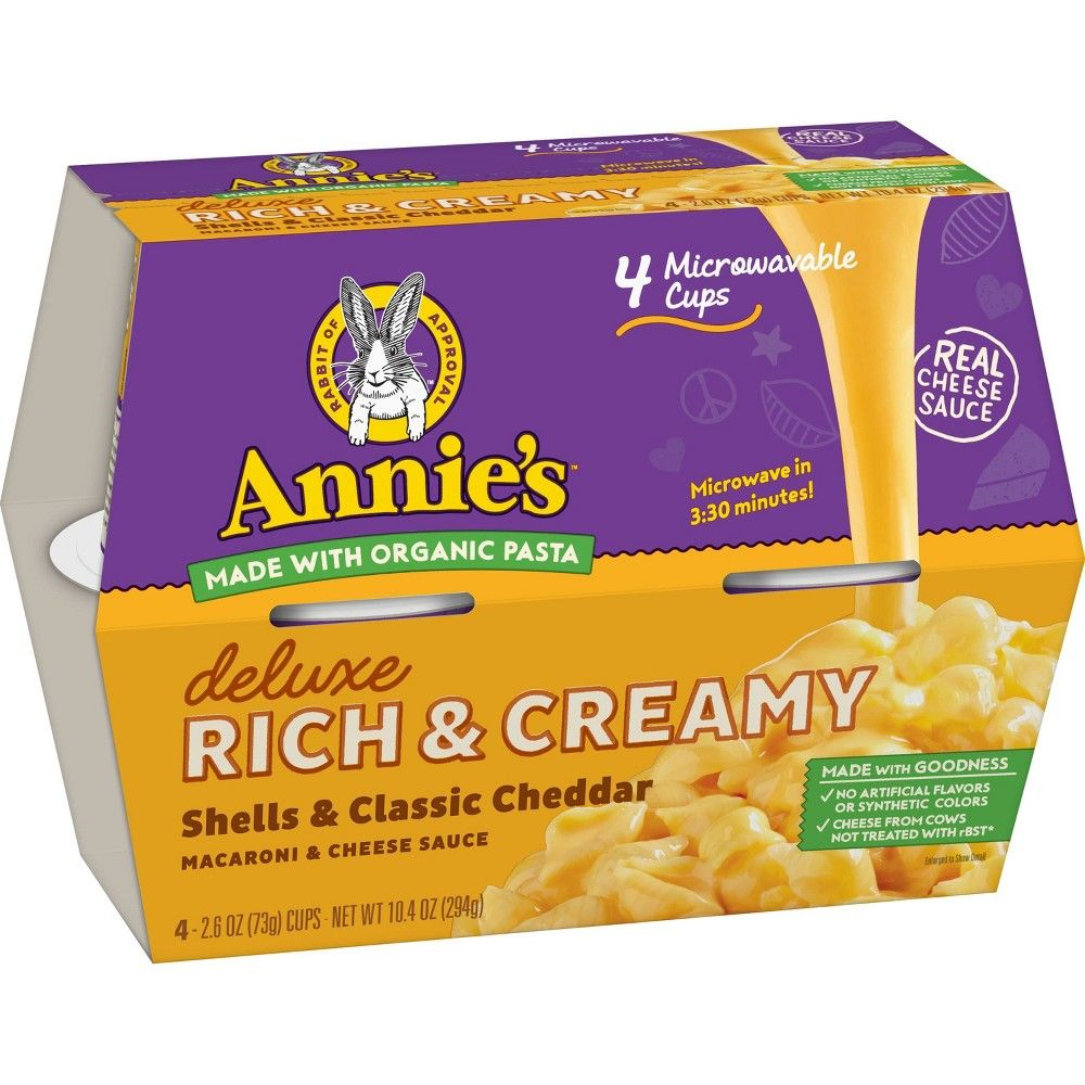 Annie's Classic Deluxe Microwavable Mac and Cheese Cups