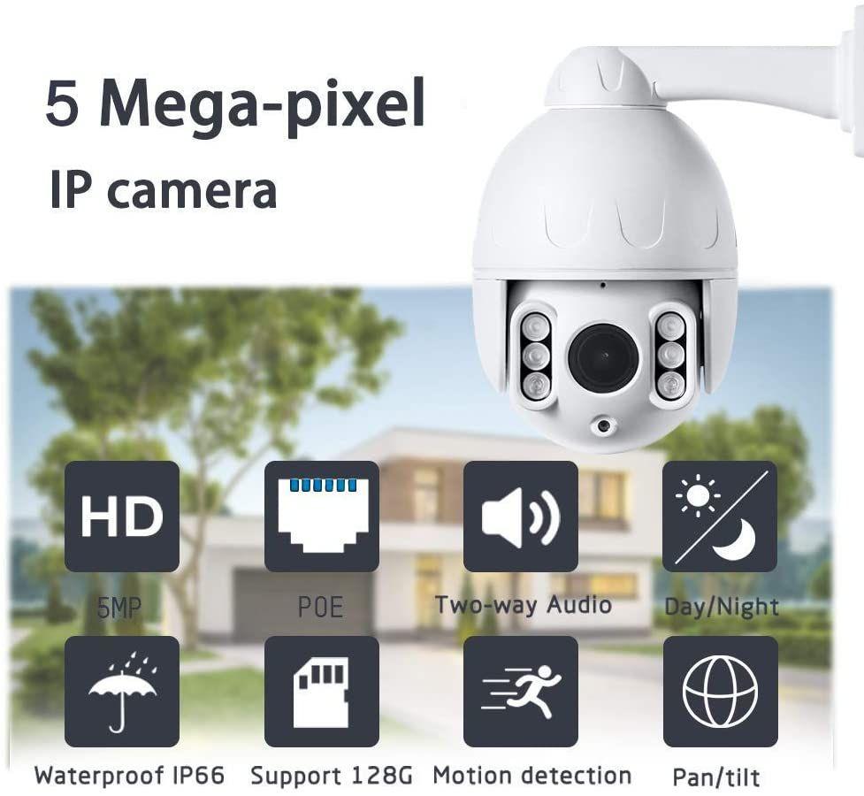 Outdoor 2 5inch 5mp Ip Poe Ptz Dome Security Camera Pan Tilt 4x Optical Zoom Ip Security Camera Ip Camera Outdoor Security Camera