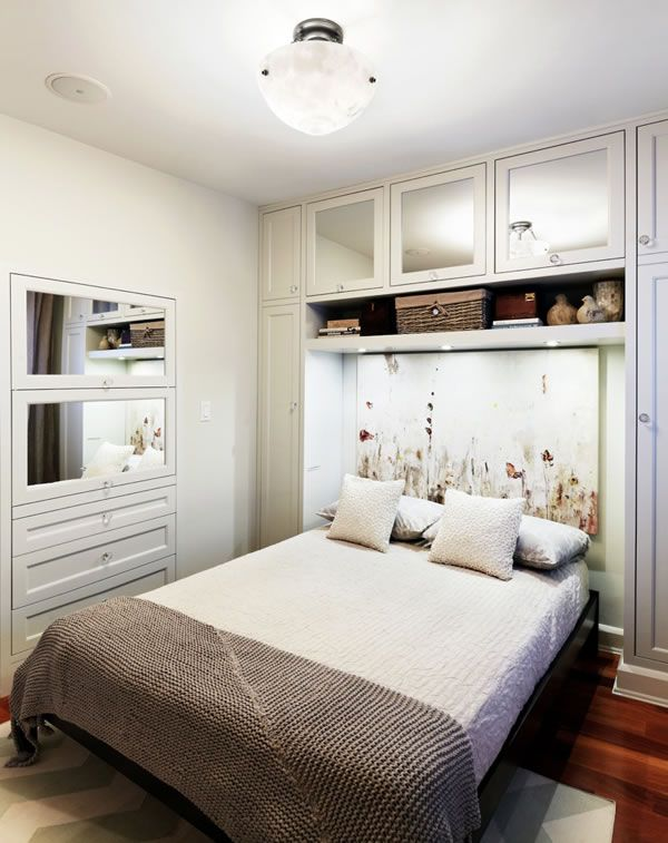 Ideas para decorar habitaciones sin ventanas camas for Gabinete de almacenamiento dormitorio