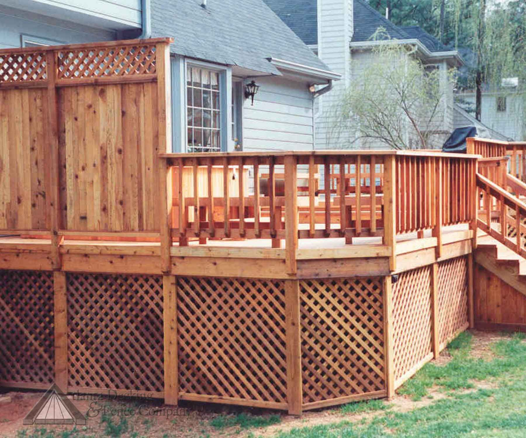 Decks With Privacy Screen Google Search With Images Privacy Screen Deck Deck Privacy Above Ground Pool Decks