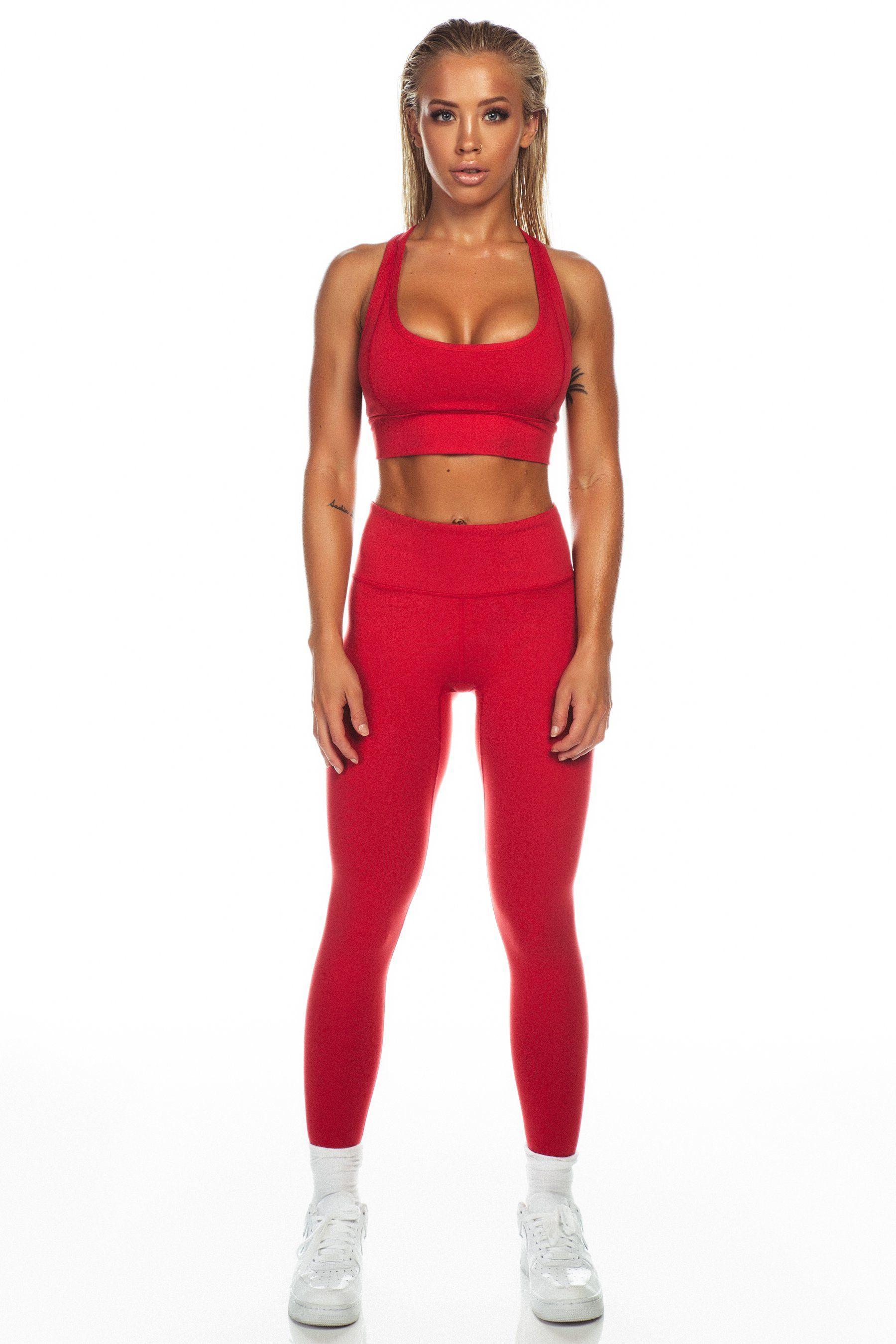a03f1b397aff Deep Red Sports Bra | Saski | Red high, Bra y Sports leggings