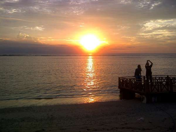 Romantic Sunset in Gili Trawangan, Lombok Indonesia