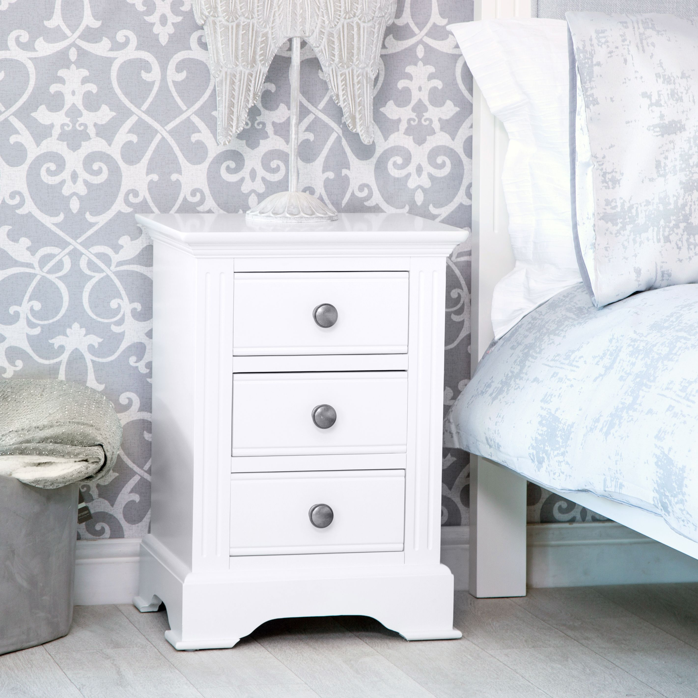 Banbury White Painted Large Bedside Table Large Bedside Tables