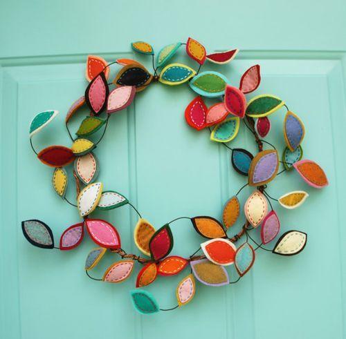 Summer Wreath Inspiration #feltcreations