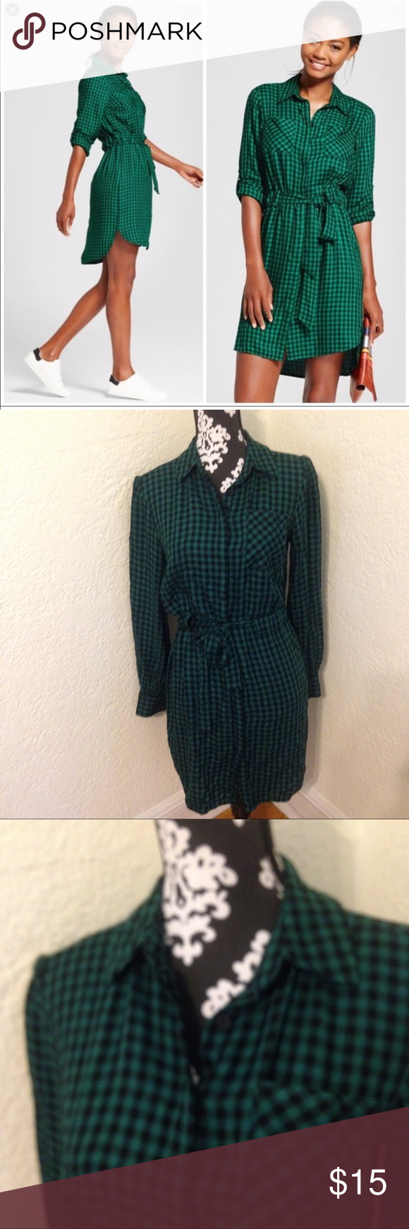 Flannel shirt with suit  A New Day gingham flannel shirt dress  My Posh Closet  Pinterest