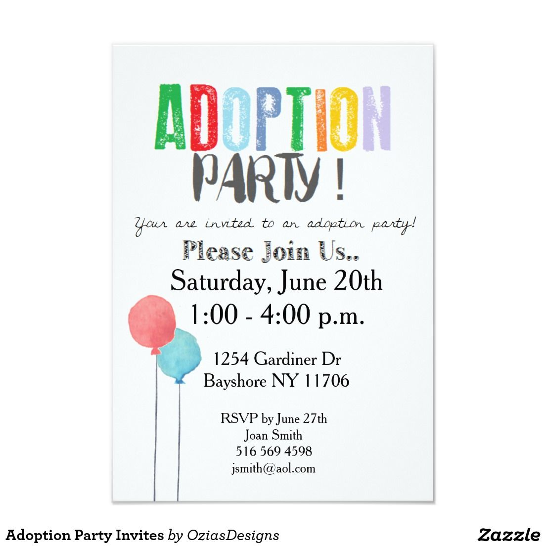 Adoption Party Invites Pinterest Adoption party Adoption and