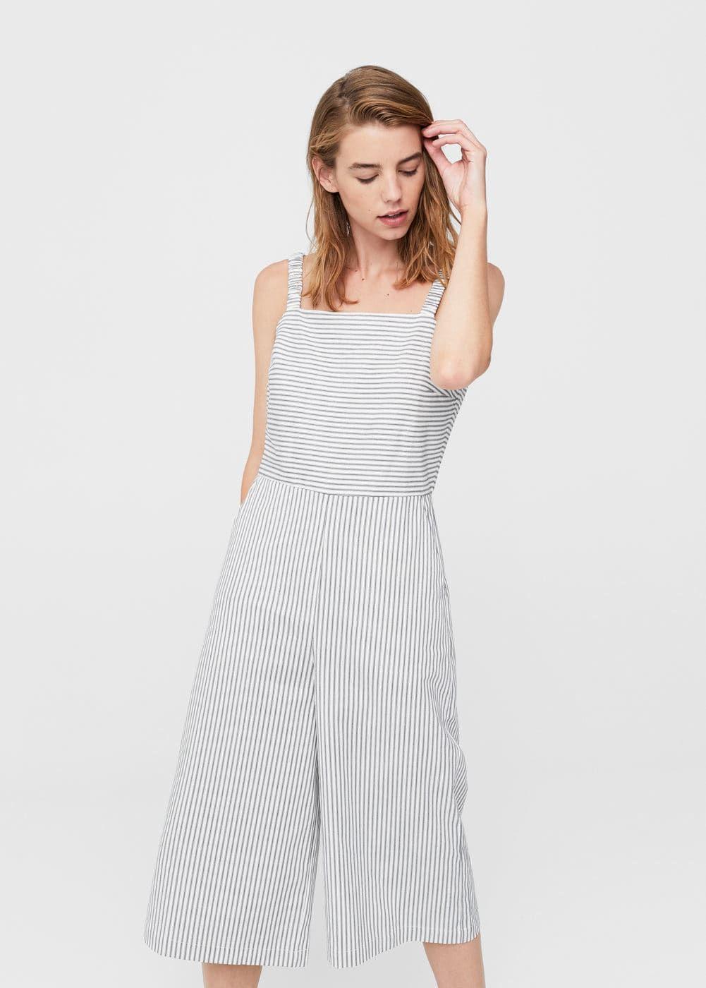 71761218eb07 Striped cotton jumpsuit - Woman