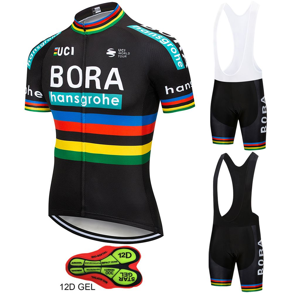 2018 Hot Pro Team BORA hansgrohe Cycling Jersey 12D GEL Pad Bike Shorts Set  MTB Ropa Ciclismo Men Summer Bicycling Maillot Wear d5cc736df