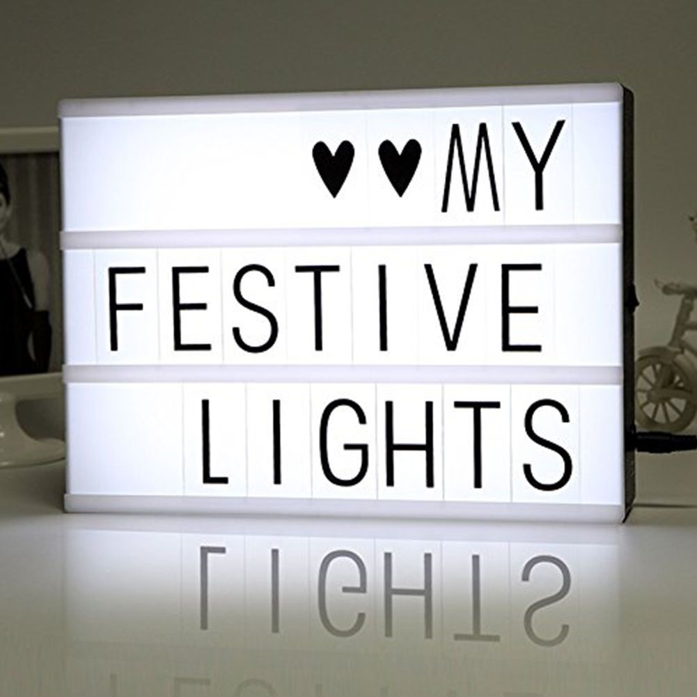A4 Cinematic Light Up Letter Box Sign LED Light Box Sign Party Wedding Christmas